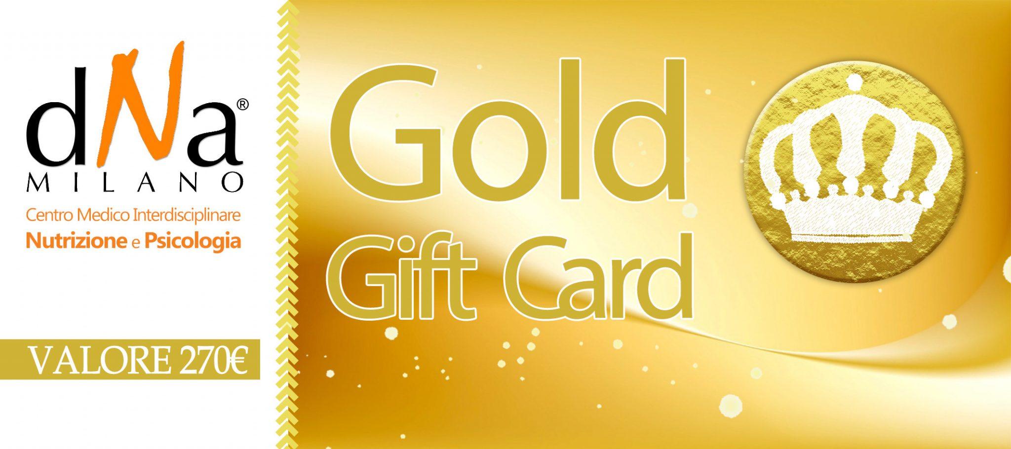 GOLD GIFT CARD: Prima Visita Nutrizionale Con Dieta, Test Intolleranze 44 Alimenti, 1 Controllo Nutrizionale