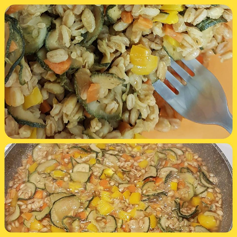 Farro Con Zucchine, Peperoni E Carote