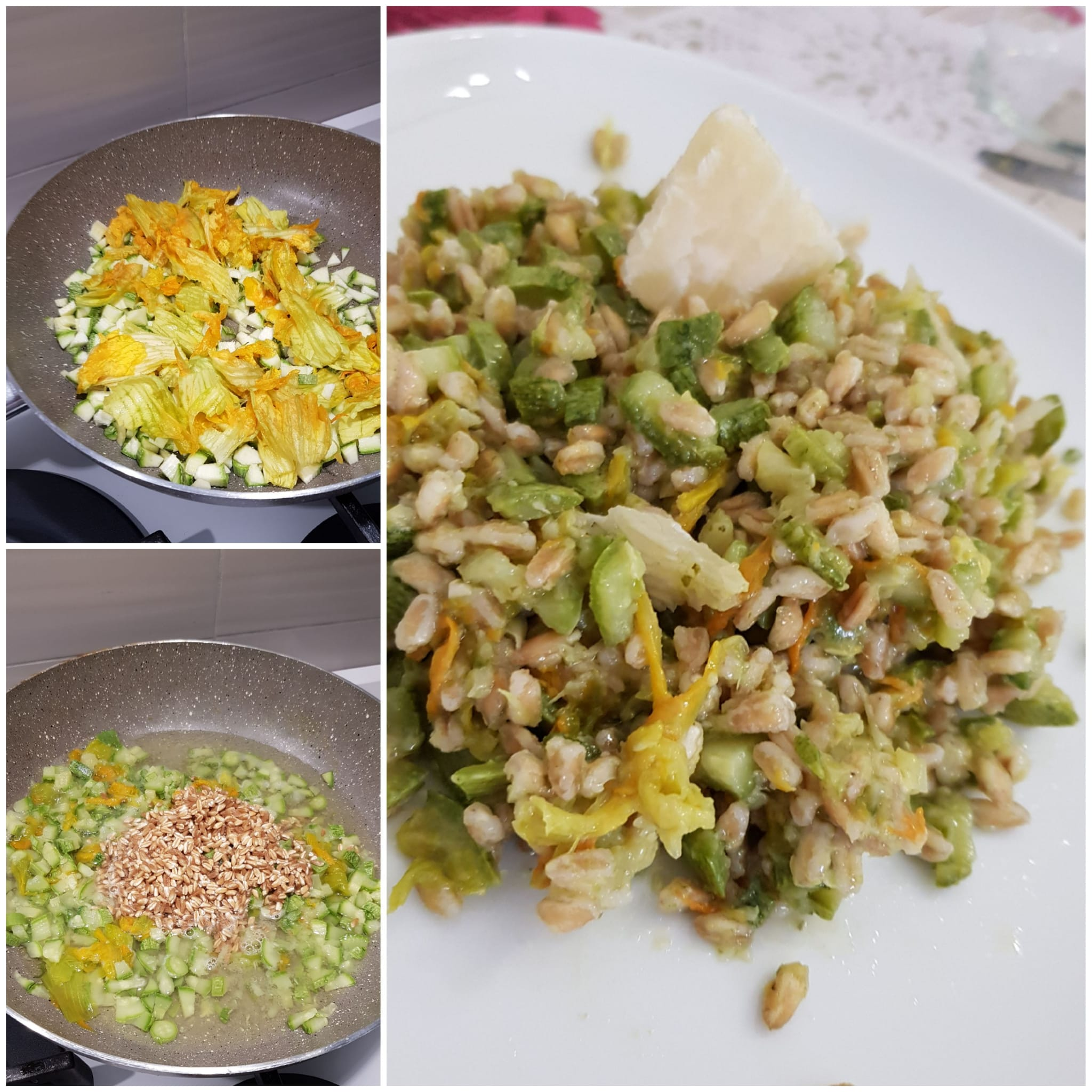 Schiscetta farro e zucchine